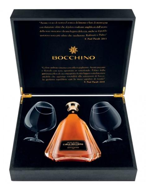 Граппа Carlo Bocchino Grappa Riserva with 2 glasses 43% 0,7л
