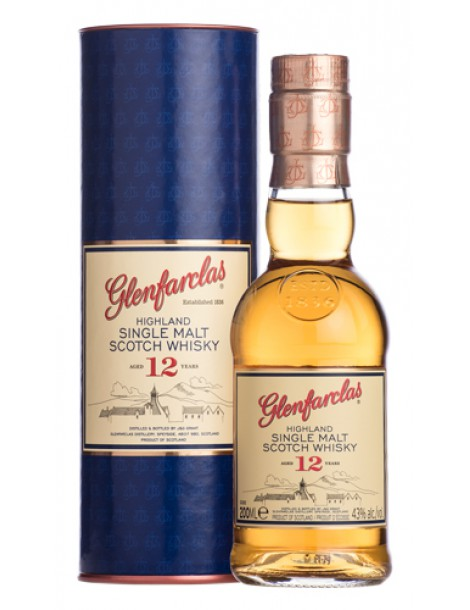 Виски GLENFARCLAS 12 years 43% OF 0,2л