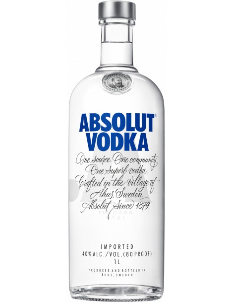 Водка Absolut 40% 1,0 л