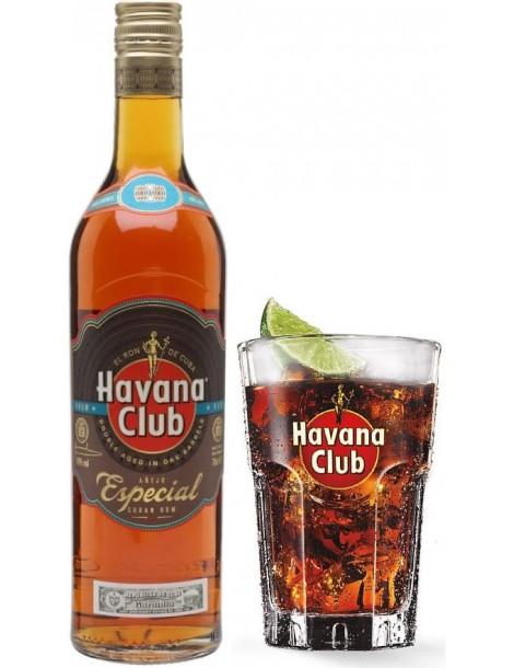 Ром Havana Club Anejo Especial with glass 40% 0.7 л