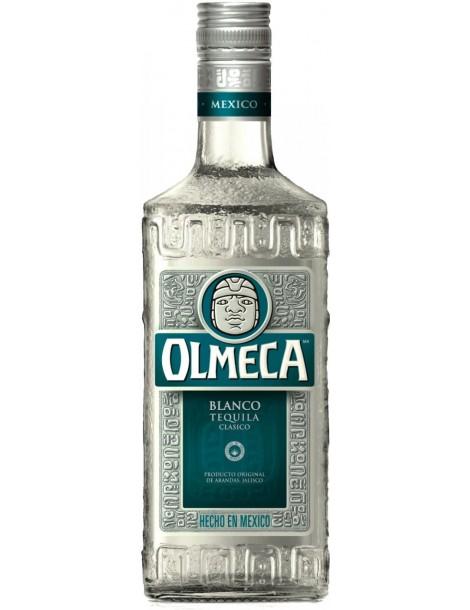 Текила Olmeca Blanco 38% with glass 0.7 л