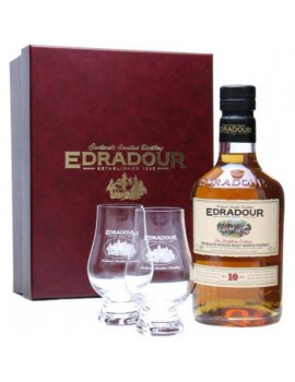 Виски EDRADOUR 10 years (gift box, 2 glasses) 40% OF 0,7л