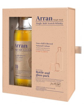 Виски ARRAN 10 years 46% OF (Gift Pack with 2 Glasses) 0,7л