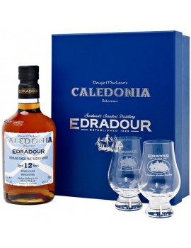 Виски EDRADOUR CALEDONIA 12 years (gift box, 2 glasses) 46% OF 0,7л