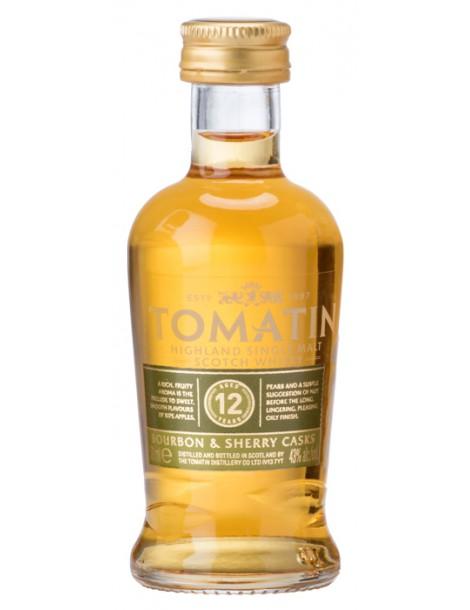Виски TOMATIN 12 years 43% OF 0,05л