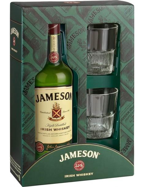 Виски Jameson 40% 0,7л gift box with 2 glasses