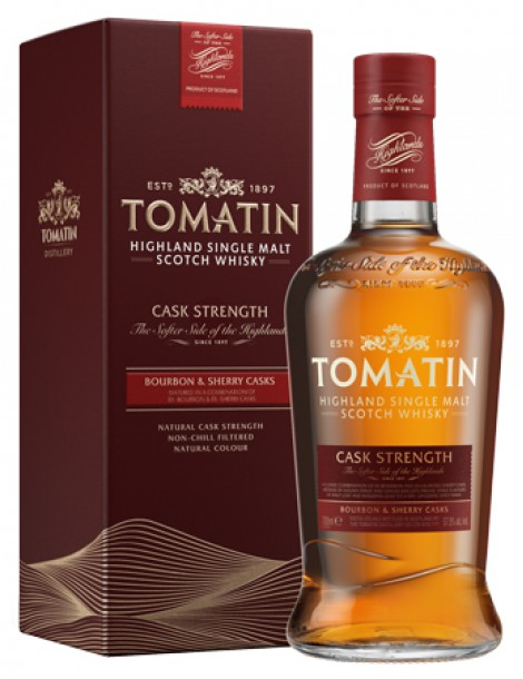 Виски TOMATIN Cask Strength 57,5% OF 0,7л п/уп