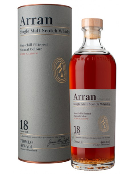 Виски ARRAN 18 years 46% OF 0,7л