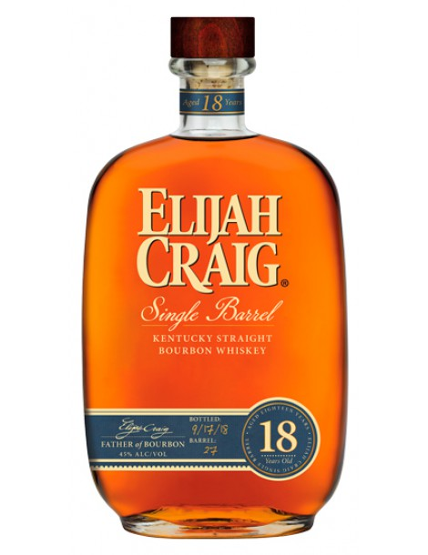 Виски ELIJAH CRAIG Single Barrel 18 Years 45% OF 0,75л
