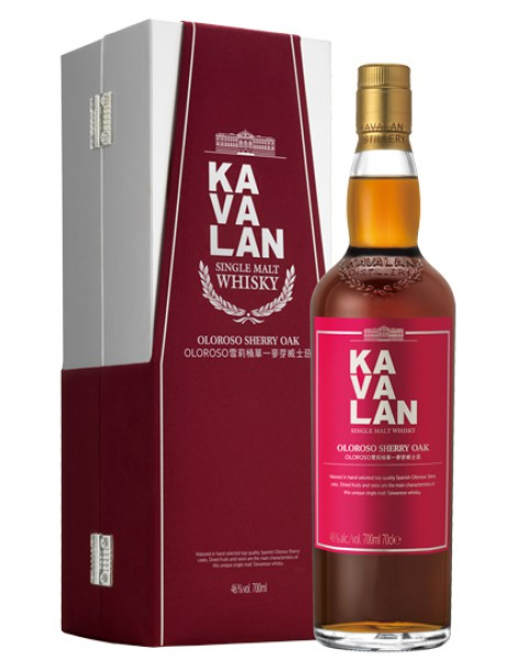 Виски KAVALAN Oloroso Sherry Oak 46% OF 0,7л