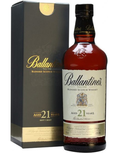 Виски Ballantine's 21 years old 40% 0,7 л, gift box