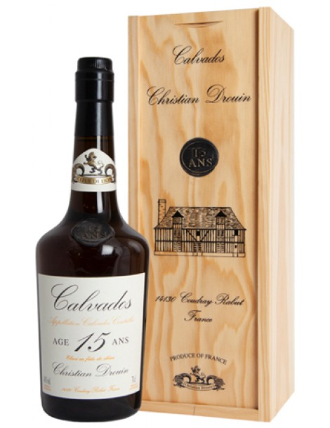 Кальвадос Christian Drouin Calvados 15 ans 40% 0,7л wood gift box