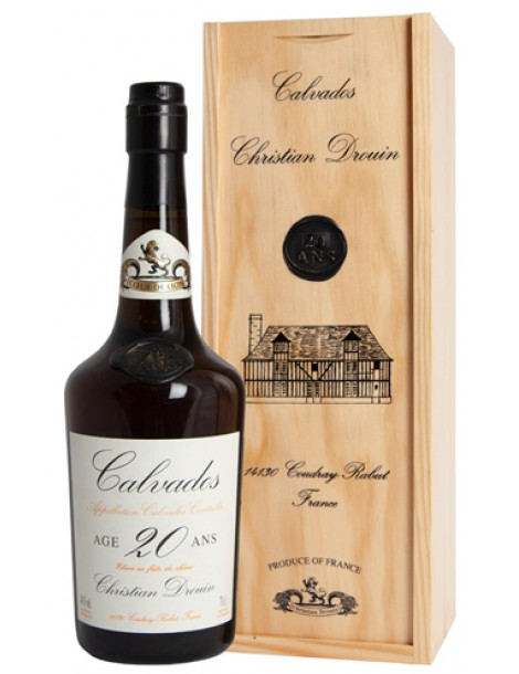 Кальвадос Christian Drouin Calvados 20 ans 40% 0,7л п/уп (дерево)