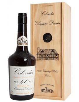 Кальвадос Christian Drouin Calvados 40 ans 40% 0,7л п/уп (дерево)