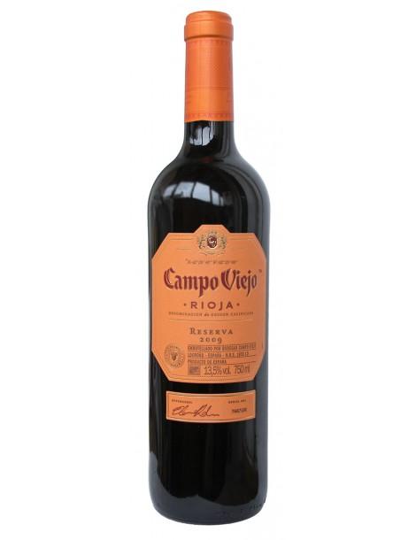 Вино Кампо Вьехо Резерва 14,0% 0,75л сухое красное