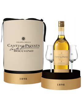Граппа Cantina Privata Bocchino 8 anni 45% 0,7л (Gift Pack with 2 glasses)