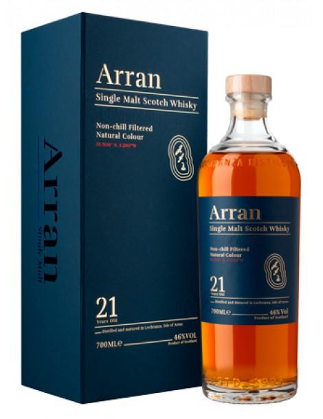 Виски ARRAN 21 years 46% OF 0,7л