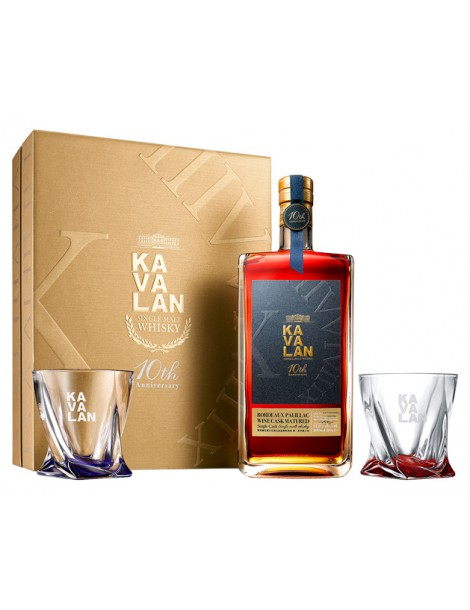 KAVALAN Bordeaux Pauillac Wine Cask Matured (Gift Pack with 2 Glasses) 57,8% OF 1л