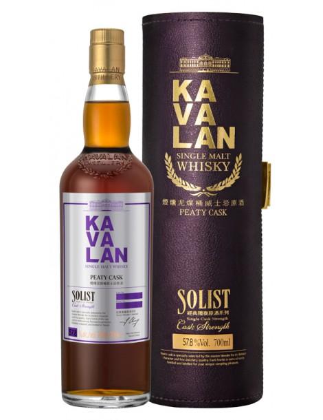 Виски Kavalan Solist Peaty Cask Single Cask Strength 57,8% 0,7
