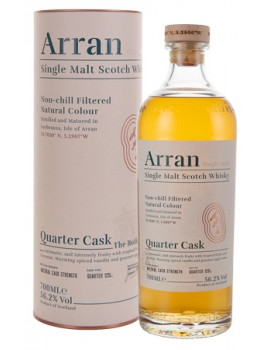 Виски ARRAN Quarter Cask 56.2%  OF 0,7л п/уп (туба)