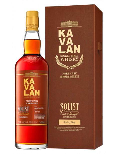 Виски Kavalan Solist Port Cask Single Cask Strength 58,6% 0,7