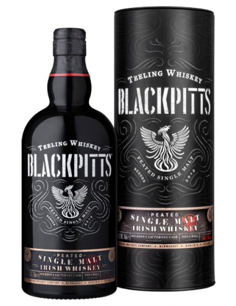 Виски Teeling Peated Single Malt Irish Whiskey Blackpitts 46% OF 0,7л п/уп (туба)