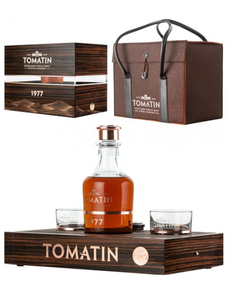 Виски TOMATIN 1977 49% OF 0,7л п/уп (Gift Pack with 2 glasses)
