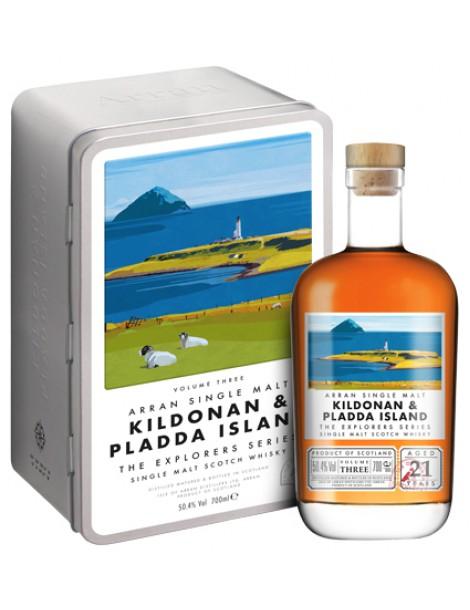 Виски ARRAN KILDONAN & PLADDA ISLAND Арран Серия Эксплорер 50.4% OF 0,7л п/уп (металл)