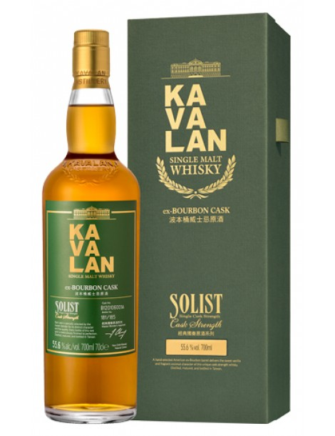 Виски KAVALAN Solist ex-Bourbon Cask Single Cask Strength 55,6% OF 0,7л